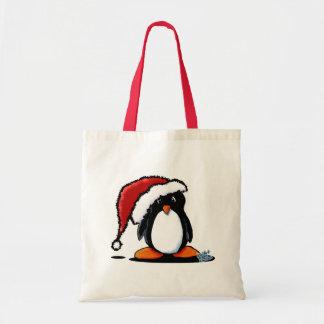 Totes y regalos del pingüino de Santa Humphrey Bolsa Tela Barata