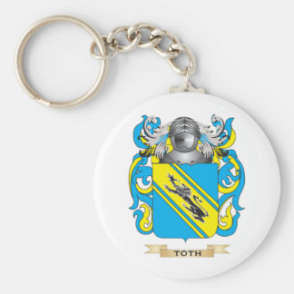 Toth Family Crest (Coat of Arms) Basic Round Button Keychain