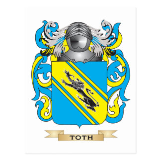 Toth Family Crest Coat of Arms Postcard