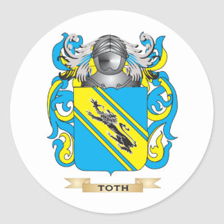 Toth Family Crest Coat of Arms Stickers