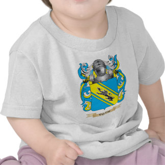 Toth Family Crest Coat of Arms T Shirts