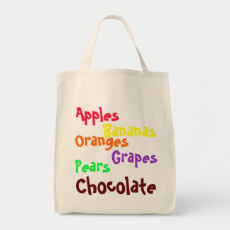 Toting Art - Important Grocery List Canvas Bags