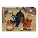 Toto Chasing Chickens in the Yard Stationery Note Card