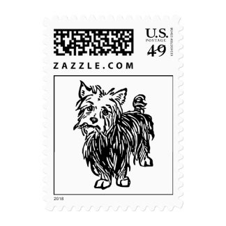 Toto Stamp! Cute Terrier Mutt Wizard of Oz dog Stamps