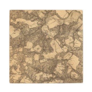 Totopotomoy, Virginia Maple Wood Coaster