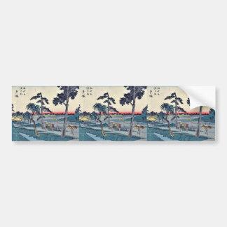 Totsuka by Ando, Hiroshige Ukiyoe Bumper Stickers