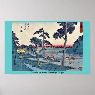 Totsuka by Ando, Hiroshige Ukiyoe Poster