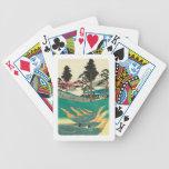 Totsuka, Japan: Vintage Woodblock Print Bicycle Playing Cards