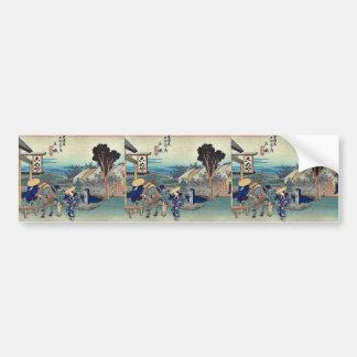 Totsuka por Ando, Hiroshige Ukiyoe Pegatina Para Auto