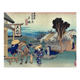 Totsuka por Ando, Hiroshige Ukiyoe Postal