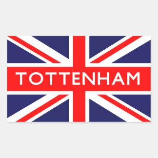 Tottenham: Bandera británica Pegatina Rectangular