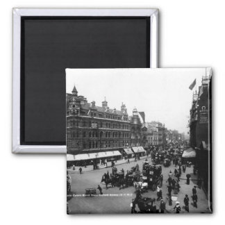 Tottenham Court Road from Oxford Street, 2 Inch Square Magnet