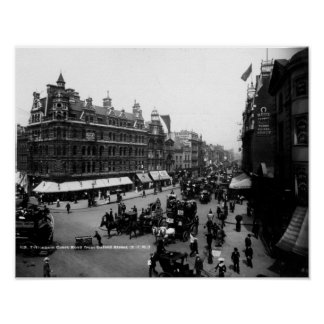Tottenham Court Road from Oxford Street, Poster