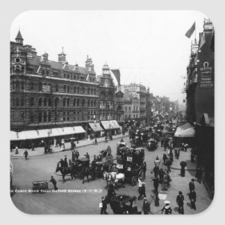 Tottenham Court Road from Oxford Street, Square Sticker