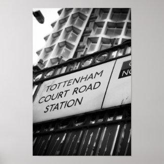 Tottenham ct road poster
