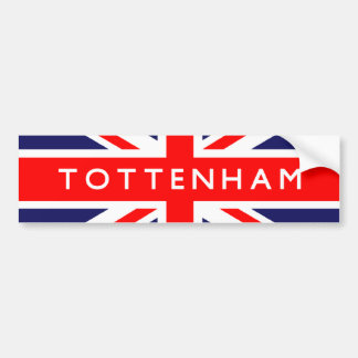 Tottenham UK Flag Bumper Sticker