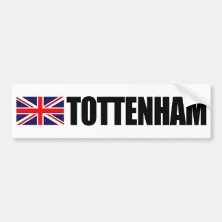 Tottenham UK Flag Bumper Sticker