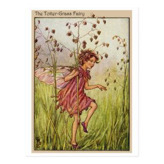 Totter-Grass Fairy Postcard
