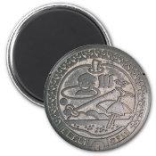 Tottori Manhole Cover Fridge Magnets