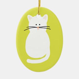 Totty The Cat. Colourful bright cat art Ceramic Ornament