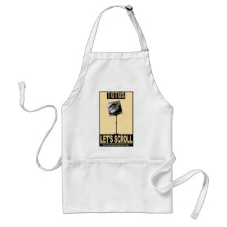 TOTUS-LET'S SCROLL ADULT APRON