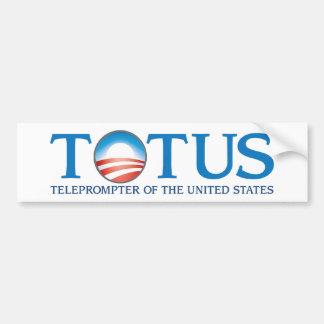 TOTUS - Tablero televisivo de los Estados Unidos Pegatina Para Auto