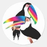 Tou Toucans Round Sticker