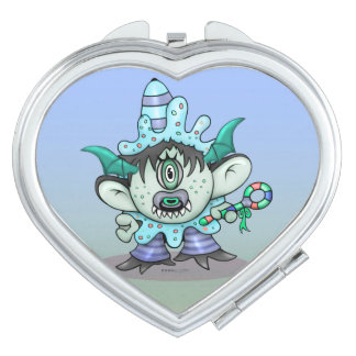 TOUBAKOU HALLOWEEN CARTOON compact mirror HEART