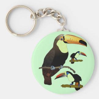 Toucan Basic Round Button Keychain