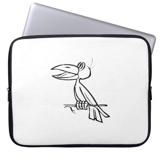 Toucan Bird on Tree Branch Computer Sleeve