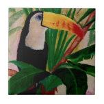 Toucan Bird Wildlife Jungle Tropical Tile Artwork