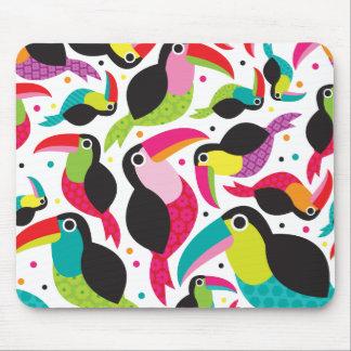 Toucan brazil retro kids pattern mouse pad