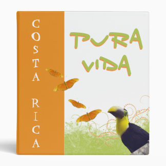 Toucan Butterflies Costa Rican Pura Vida Binder