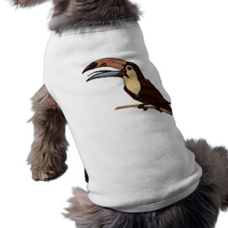 Toucan Carved of Tropical Woods Doggie T Shirt
