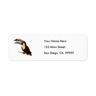 Toucan Carved of Tropical Woods Label