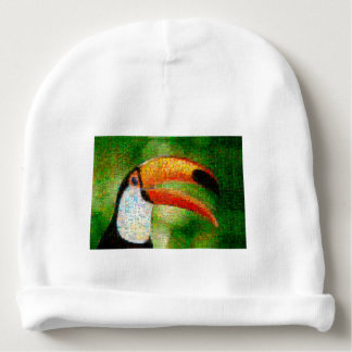 Toucan collage-toucan  art - collage art baby beanie