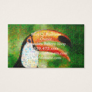 Toucan collage-toucan  art - collage art business card