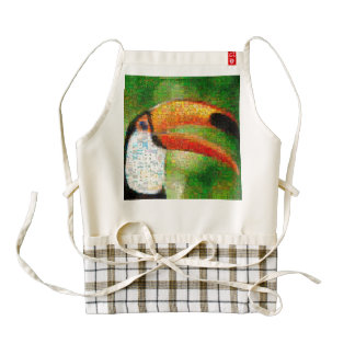 Toucan collage-toucan  art - collage art zazzle HEART apron