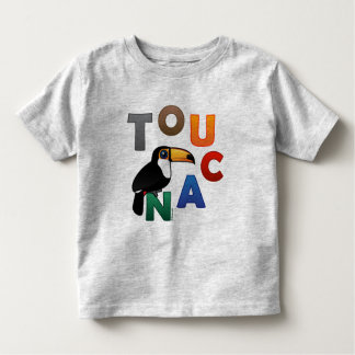 Toucan colorido playera de bebé