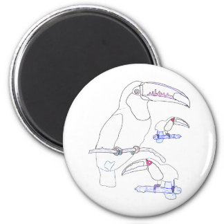 Toucan Drawing 2 Inch Round Magnet