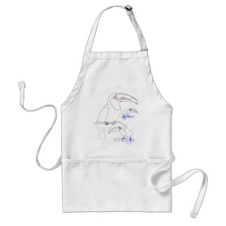 Toucan Drawing Adult Apron
