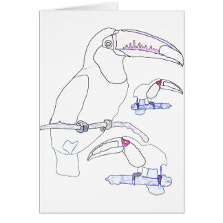 Toucan Drawing Greeting Card