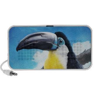 Toucan en la pintura tropical digital del pájaro d PC altavoces