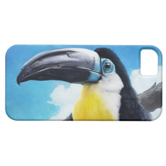 Toucan en la pintura tropical digital del pájaro d iPhone 5 cárcasa