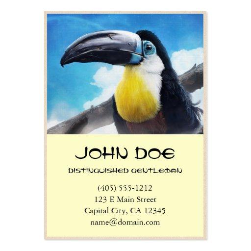 Toucan en la pintura tropical digital del pájaro d tarjetas de visita grandes