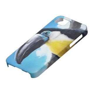 Toucan en la pintura tropical digital del pájaro iPhone 5 carcasas