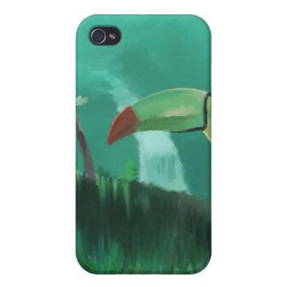 Toucan en la selva tropical iPhone 4/4S funda