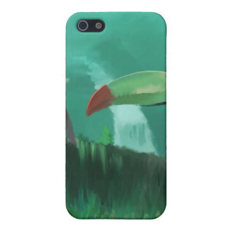 Toucan en la selva tropical iPhone 5 funda