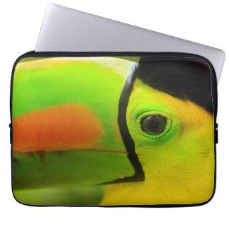 Toucan face close up, Belize Laptop Sleeve