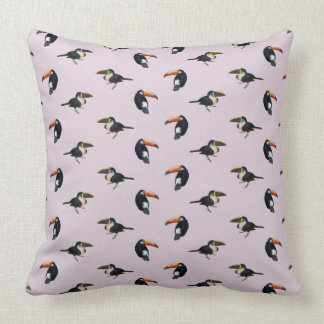 Toucan Frenzy Pillow (Dusty Pink)